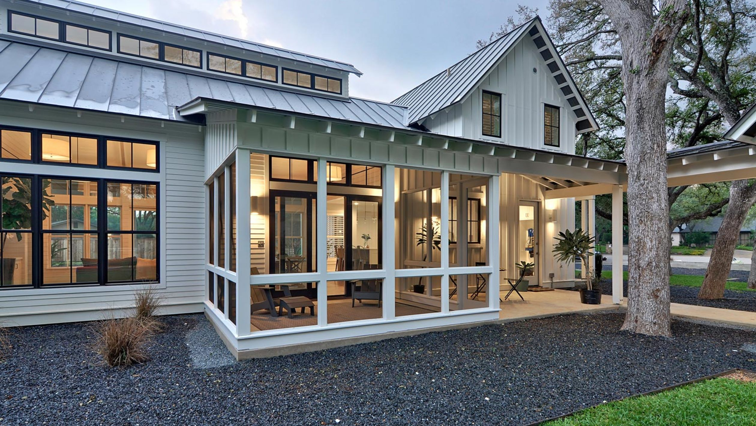 Modern farmhouse porch
